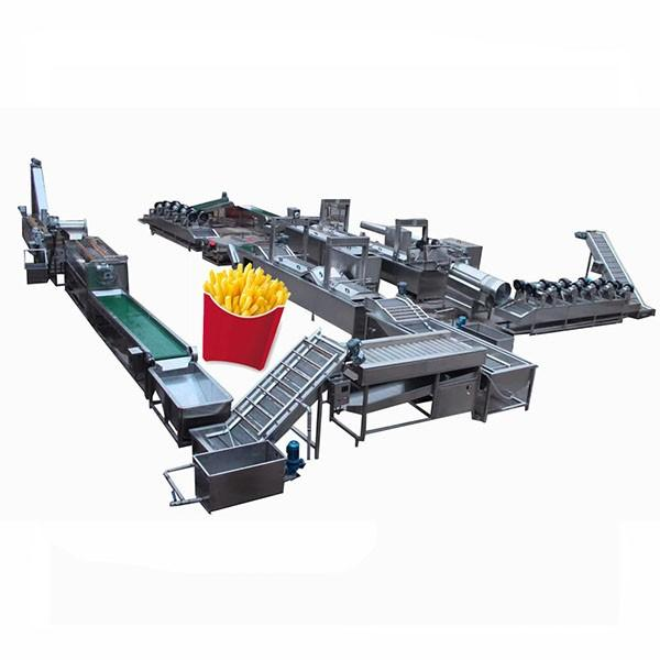 Fully Automatic Fried Potato Chips French Fries Making Machine